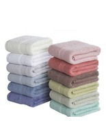 100% Cotton Bath Towels Beach Towel For Adults Fast Drying Soft High Abs... - $15.19