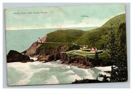 Vintage Early 1900's Postcard Haceta Head Light House Oregon POSTED - $15.81