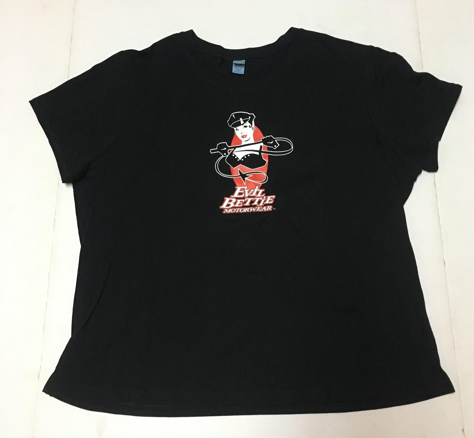 Evil Bettie Motor Wear T-Shirt Women's Sz US XL NEW Motorcycle