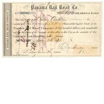 RN-T4 Panama Rail Road Co. Stock Certificate 1871, Henry Aithen, New Yor... - $89.00