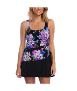 Rose Marie Reid Womens Swimdress Multi-Color Floral Stretch Modest Scoop... - $44.99