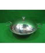 Vintage Holland Boone Polished Pewter Covered Serving Bowl Dish with Han... - $23.33