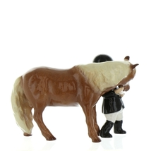 Hagen Renaker Specialty  Horse Girl and Her Pony Ceramic Figurine image 8