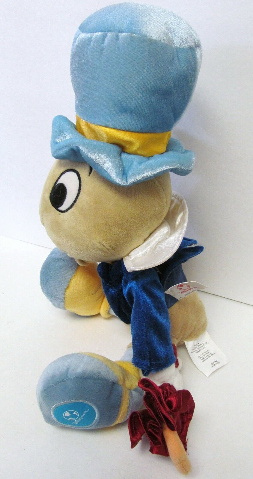 "DISNEY STORE CORE JIMINY CRICKET PLUSH DOLL TOY 15"" WPARTIAL HANGTAG & TUSH TAG"