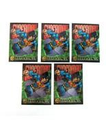 Lot of 5 Skybox DC Legends '95 SUPERMAN Power Chrome 1995  Prototype Pro... - $11.99