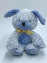 Child Of Mine Carters Blue Yellow Ribbon Plush Puppy Dog Woof Noise Sound Small - $34.99