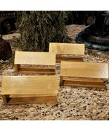 Set of 4 Vintage Wood Advertising FOSSIL Watch Display Bars - $79.95