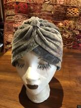 Vintage Gray Velvet Turban Hat - $27.72