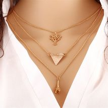 MULTI-TIER LADIES NECKLACE   * L@@K *  (12765)   WE COMBINE SHIPPING - $4.00