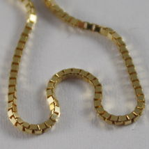 18K YELLOW GOLD CHAIN 1 MM VENETIAN SQUARE LINK 17.71 INCHES, MADE IN ITALY image 4