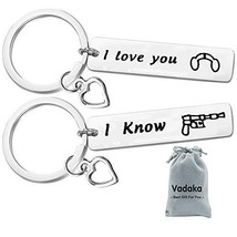 Couple Gifts for Boyfriend and Girlfriend,I Love You I Know Keychain Set... - $8.40