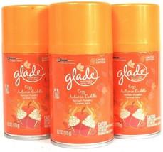 3 Ct Glade 6.2 Oz Limited Edition Cozy Autumn Cuddle Automatic Refill Spray - $25.99