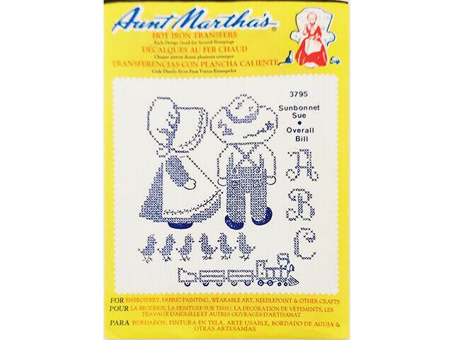Aunt Martha's Hot Iron Transfers, Sun Bonnet Sue, Overall Bill #3795