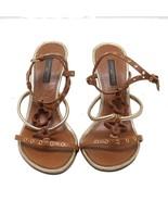 Auth Louis Vuitton Leather Strap Monogram Sandals Size 36.5 US 6.5 UK4 M... - $229.08