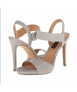 Steven by Steve Madden Womens Razle Grey Leather Lizard Embossed Heels 8... - $32.73