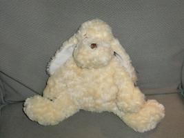 "Baby Ganz Stuffed Plush Puppy Dog Cream Ivory Pale Yellow Rattle Soft 9"" - $28.94"