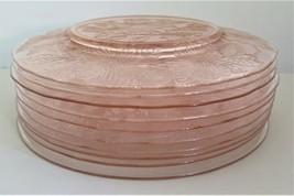 "Lot of 10 Macbeth-Evans Co Dogwood Pink Depression Glass 8"" Plates USA V... - $42.75"