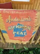 Vintage Advertising Burlap bag Andersons peat100LBS Used (rough) - $28.71