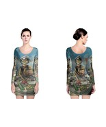 Gorillaz On Boat Women's Long Sleeve Bodycon Dress - $25.80+