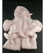 Build a Bear Light Pink Robe with Belt Chenille Teddy Bear Clothes with ... - $9.89