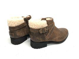 UGG Australia BENSON Buckle Sheepskin Ankle Booties 1095151 Chipmunk Waterproof image 7