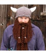 Wool Braid Pirate Mask Wig Beard Funny Knitted Hats - $11.99