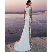 Women's New Bridal Fashion Sleeveless Lace Sexy Elegant Beach Wedding Dress image 3