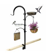 Upgraded Bird Feeding Station Kit,Deck Railing Bird Feeder Pole with 3 H... - $62.45