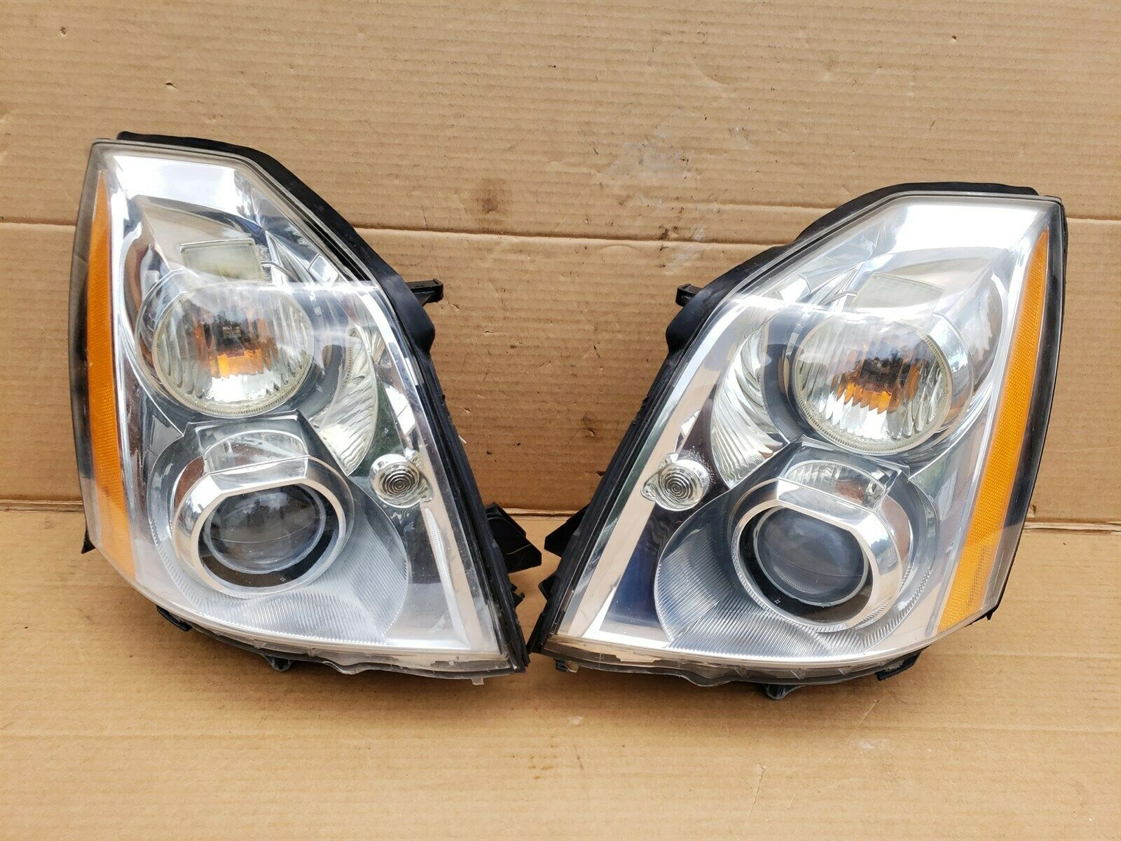 06-11 Cadillac DTS HID Xenon Headlight Head Light Lamp Set LH & RH -POLISHED