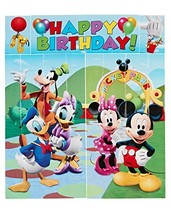 American Greetings Mickey Mouse Scene Setter Wall Decorations, 5-Count - $7.19
