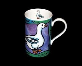 Dunoon Whittard of Chelsea Whimsical Goose HONK HONK Glossy Shiny Mug Sc... - $15.99