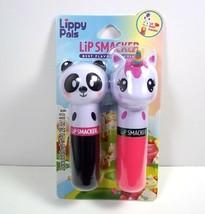 Lip Smacker Lippy Pals 2 pack lip balm Cuddly Cream Puff & Unicorn Magic flavors - $12.82