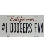 California State Background Novelty Metal License Plate Tag (#1 Dodgers ... - $13.25