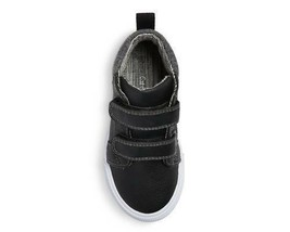 Cat & Jack Boys Toddlers Black Harrison Hook And Loop Mid Top Shoes NWT image 2