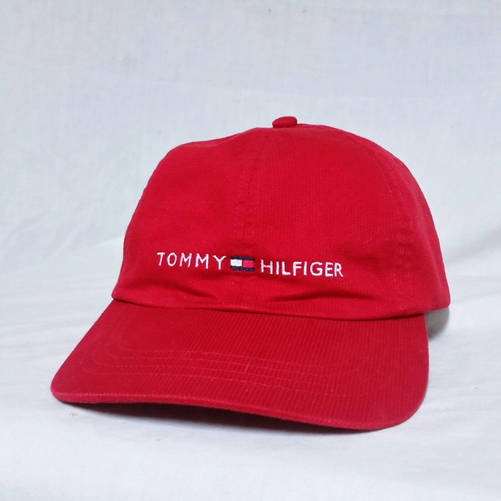 94525411 S l1600. S l1600. Previous. VTG Tommy Hilfiger Strapback Hat 90s Spell Out  Flag Lotus Cap Racing Sport Ski