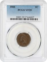 1866 1c PCGS VF35 - Indian Cent - $155.20