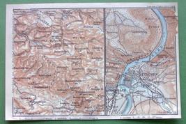 1904 MAP ORIGINAL Baedeker - CZECH REPUBLIUC Tetschen Decin on Labe Elbe... - $5.07
