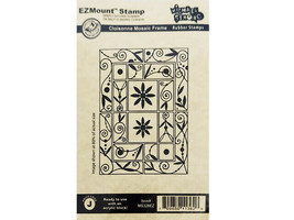 Michael Strong EZMount Stamps Cloisonne Mosaic Frame Rubber Stamp #MS328EZ