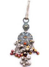 Vintage Handmade Fabulous Old Silver Ladies Waist Key Chain Chhalla Belly Dance - $71.27