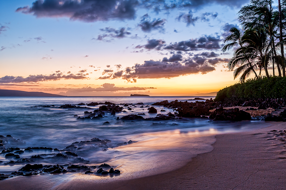 Secret Cove at Dusk, Maui, Fine Art Photography, Paper, Metal, Canvas Prints