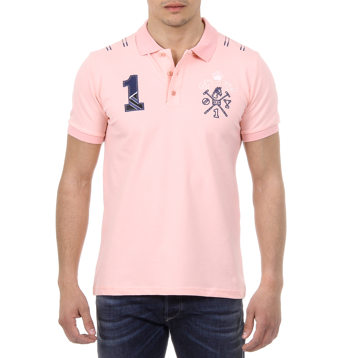 Primary image for Ufford & Suffolk Polo Club Mens Polo Short Sleeves US008 PINK