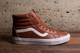VANS Sk8 Hi Reissue (Premium Leather) Tortoise Shell Brown Mens 7.5 Wome... - $60.73
