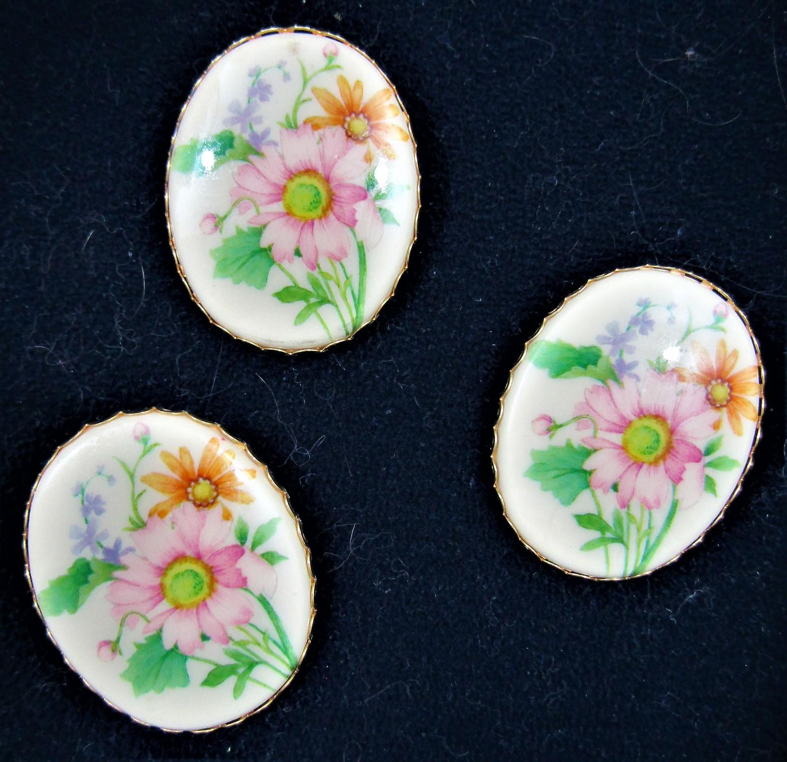HALLMARK Floral Medallion Pin