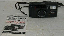 Vintage Nikon ZoomTouch Zoom Touch 400 35mm Film Photography Camera with... - $8.91
