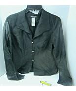 Sz 8 BAHARI EVENING Wear Black Sheer Button Front Shirt  NWT Rhinestone ... - $21.34
