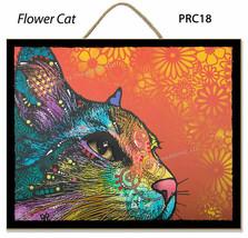 Dean Russo Plaques Fleur Chat Brooklyn Base Parfait Cadeau Complet - $25.66 CAD