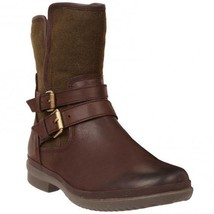 Womens Ugg Australia Boots Simmens Waterproof Brown/Olive Leather Ankle Boot 5 M - $146.89
