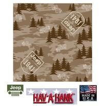 USA MADE Hav-A-Hank JEEP CAMO 1941 Camouflage Bandana Head Neck Wrap Sca... - $9.99