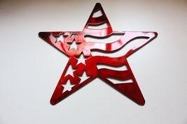 "Stars and Stripes Barn Star Metal Wall Art Decor/Wall Hanging Red 7"" - $9.99"