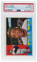 Willie Mays Giants 1960 Topps #200 Baseball Card VG EX 4 Slabbed PSA - $116.35